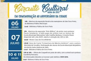Aniversário da cidade de Ouro Preto dia 8 de julho