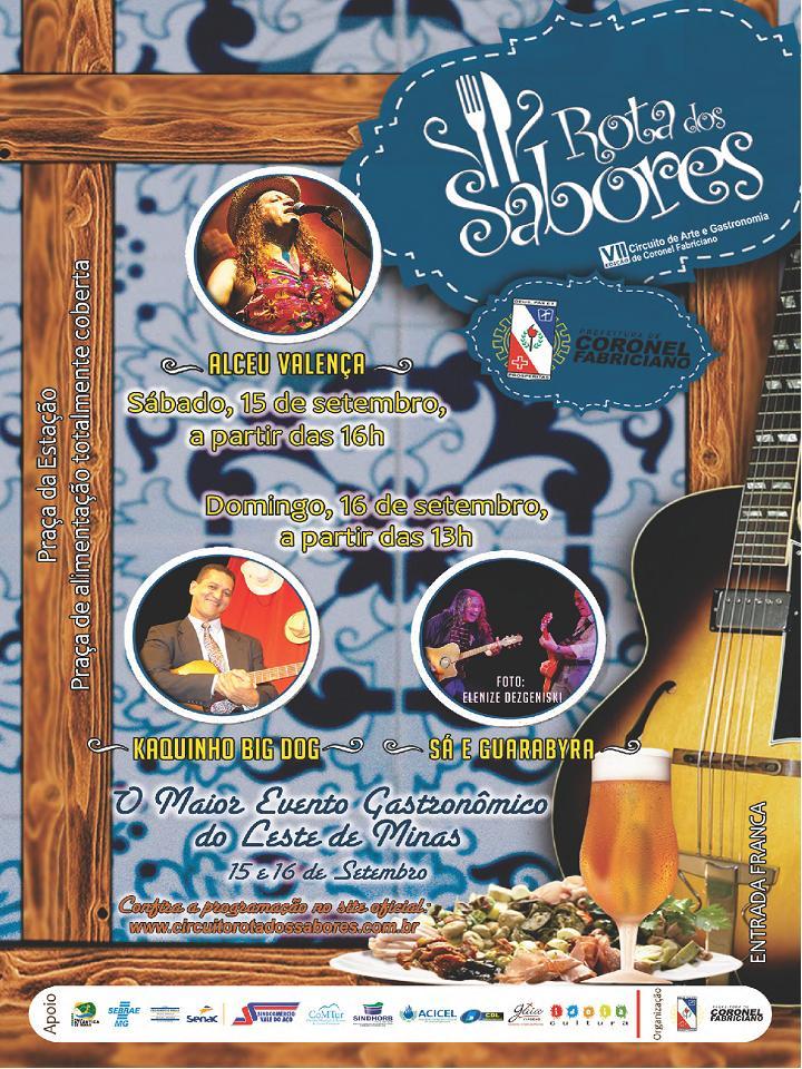 """Festival Gastronômico """"Rota dos Sabores"""" em Coronel Fabriciano"""