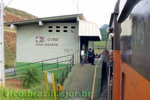 estação ferroviária Dois Irmãos em Barão de Cocais