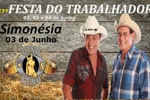 27ª Festa DO TRABALHADOR de Simonésia