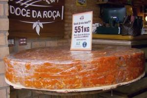 Maior doce de abóbora do Brasil em Poços de Caldas